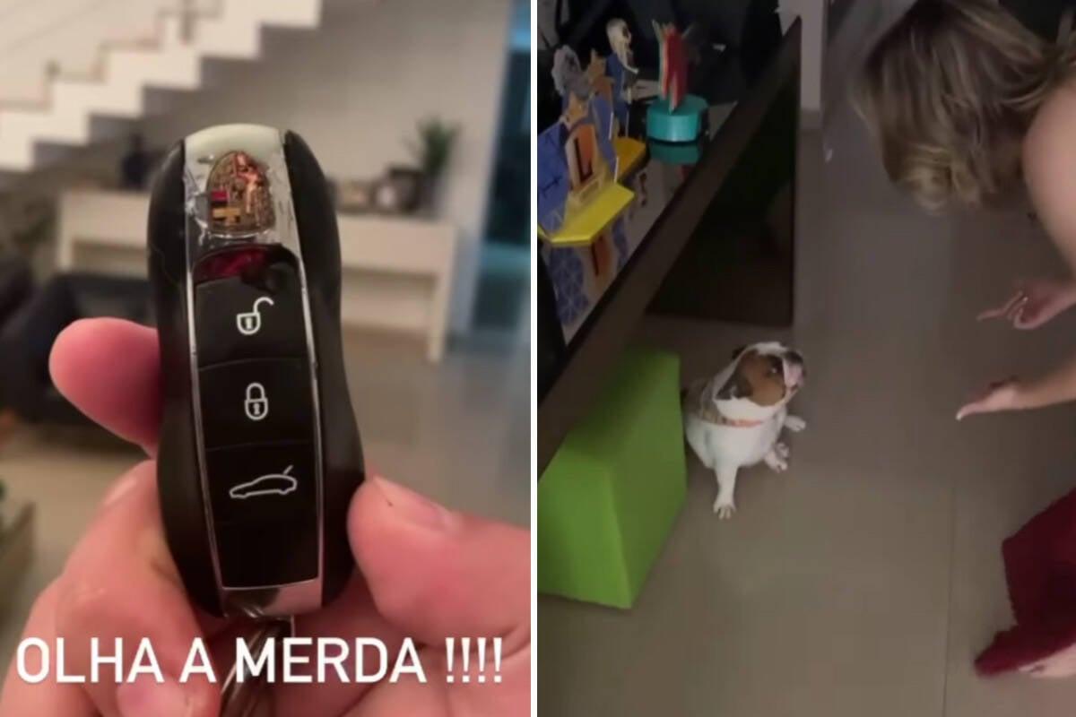 Naiara Azevedo dá bronca em pet que destruiu chave de carro de R$ 700 mil