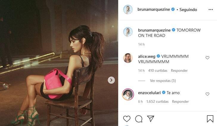 """Novo casal! Enzo Celulari se declara Bruna Marquezine: """"te amo"""" (Foto: Reprodução/Instagram)"""