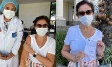 Lilia Cabral é vacinada contra covid-19: 'Viva o SUS! Viva a Ciência!'