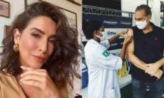 Fê Paes Leme celebra vacinação do pai contra covid-19: 'esperança'