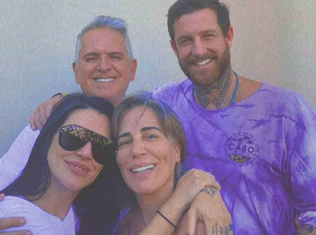 Orlando Morais recebe visita de Cleo e namorado após ser curado do Covid-19. Foto: Reprodução Instagram