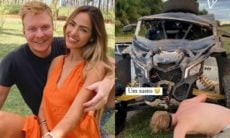 Gabi Luthai e Teo Teló sofrem acidente: 'baita susto, baita livramento'