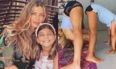 Grazi Massafera posa praticando ioga com a filha: 'namastê'