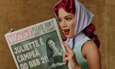 Anitta se diverte com meme de Juliette em foto promocional: 'o acerto'
