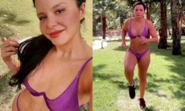 Maraísa posta treino de biquíni ao ar livre: 'tava com saudade'