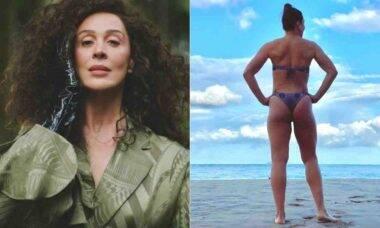 Claudia Raia posa de biquíni: 'saudade de colocar o corpão pra jogo'