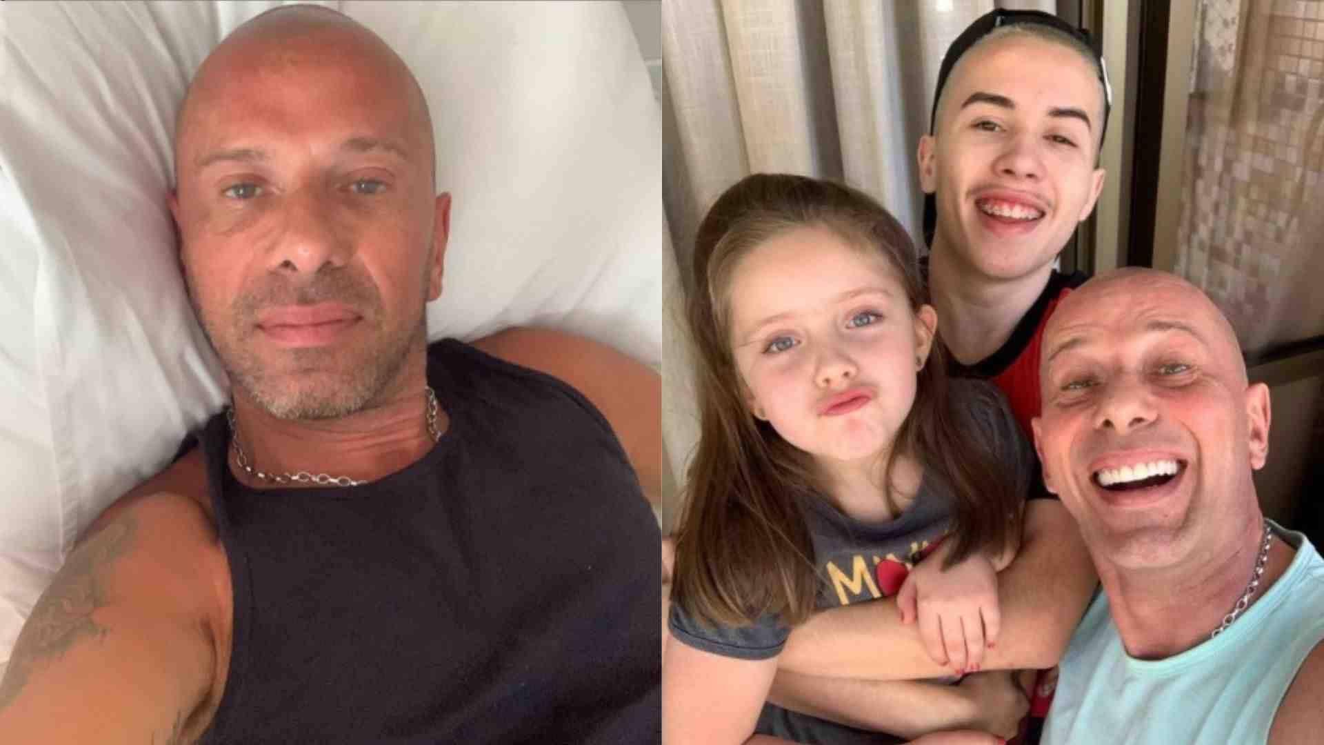 Rafael Ilha posa ao lado dos filhos em clique raro: 'obrigado, Senhor'