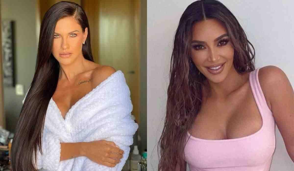 Andressa Suita usa megahair e brinca ao se comparar a Kim Kardashian