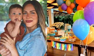 Giovanna Ewbank exibe decoração da festinha de 9 meses de Zyan
