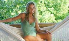 De lingerie verde, Bruna Lombardi encanta seguidores descansando em rede. Foto: Reprodução Instagram