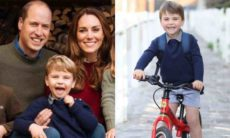 William e Kate postam foto de Louis para celebrar aniversário de 3 anos