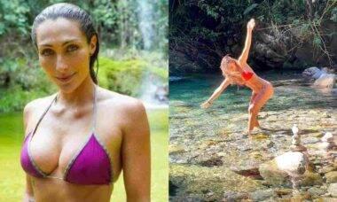 Sofia Starling, noiva de André Marques, curte dia em cachoeira: 'desfrute'