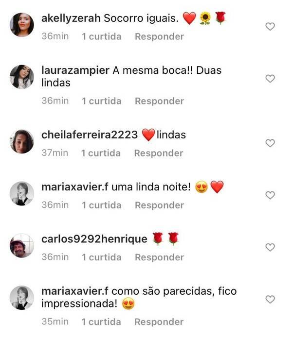 Lilia Cabral posta foto com a filha e impressiona os fãs com semelhança (Foto: Reprodução/Instagram)
