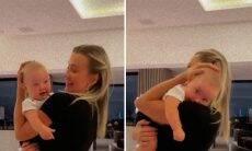 """Ana Paula Siebert pega a filha no colo após cirurgia: """"Primeiro colo"""""""