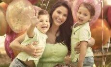 """Andressa Suita registra momento especial com os filhos: """"Tempo, vai com calma"""""""