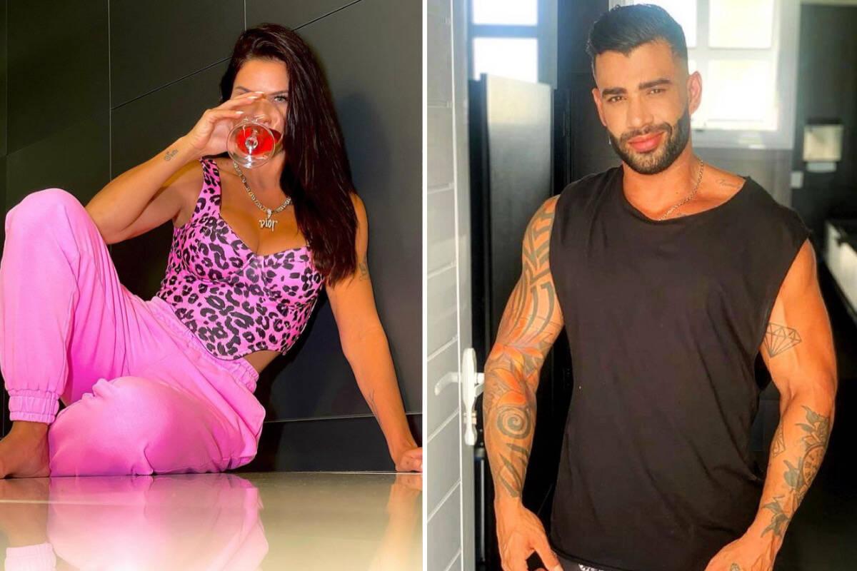 """Andressa Suita posa com colar grifado de R$ 7 mil e responde Gusttavo Lima: """"E a mãe tá como?"""""""