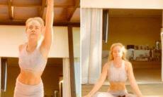 """Angélica aparece fazendo yoga e reflete: """"Sintonia com a vida"""""""