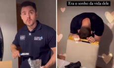 """Cacau Colucci mostra reação de Bruno Lima ao descobrir gravidez: """"Era o sonho da vida dele"""""""