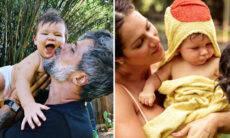 """Giovanna Ewbank e Bruno Gagliasso celebram os 9 meses de Zyan: """"Dia é todo dele"""""""