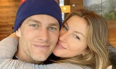 """Tom Brady conta o segredo do relacionamento com Gisele Bündchen: """"Ela que sustenta a família"""""""