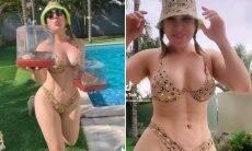 """Naiara Azevedo rebate críticas sobre fibrose na barriga: """"Está longe de ser um incômodo"""""""