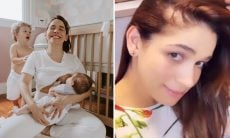 """Sabrina Petraglia revela queda de cabelo após parto: """"Cai mesmo"""""""