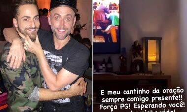 """Marido de Paulo Gustavo mostra canto de orações: """"Esperando você"""""""