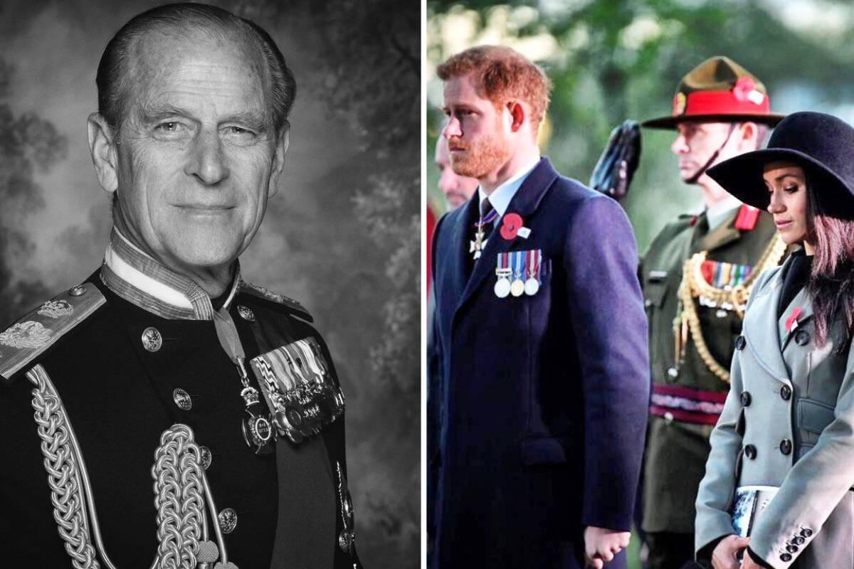 Harry e Meghan Markle lamentam a morte de Príncipe Philip
