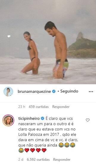 Neymar deixa de seguir Tici Pinheiro após comentário sobre namoro de Bruna e Enzo (Foto: Reprodução/Instagram)