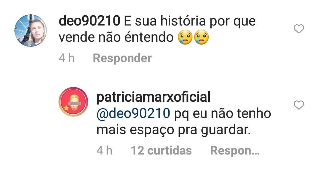 Patrícia Marx coloca seu 1º disco de vinil a venda: 'não tenho espaço' (Foto: Reprodução/Instagram)
