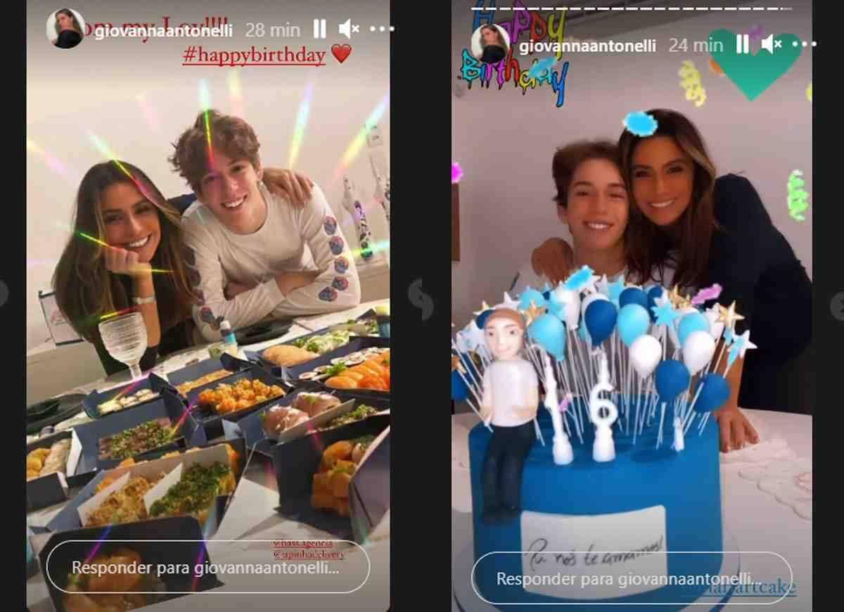 Giovanna Antonelli celebra aniversário do filho: 'o cara mais incrível' (Foto: Reprodução/Instagram)