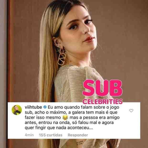 Viih Tube desabafa sobre falsidade no BBB: 'me xingou agora baba ovo' (Foto: Reprodução/Instagram)