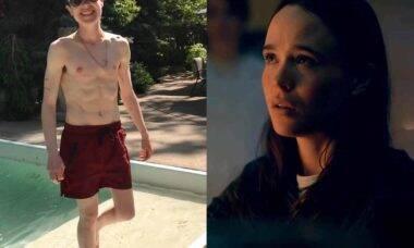 Elliot Page posta primeira foto sem camisa após transição de gênero. Foto: Reprodução Instagram