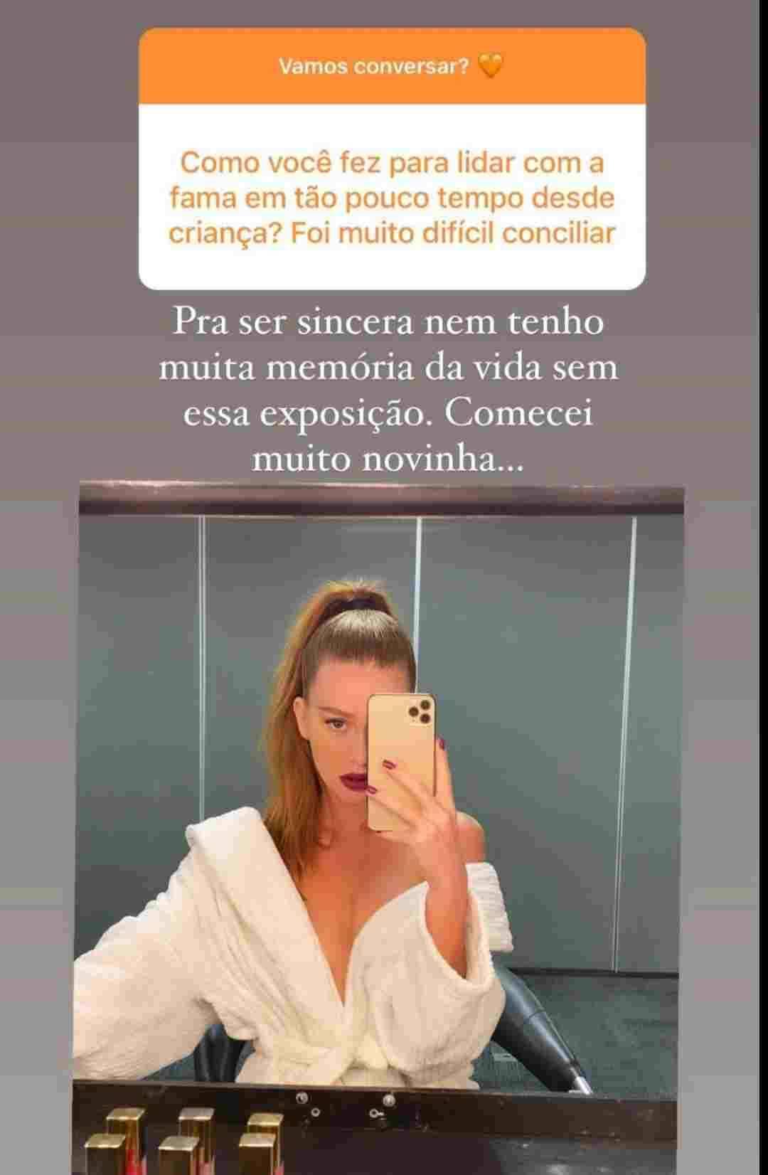 Marina Ruy Barbosa fala da vida pública e 'haters': 'vida é tão além disso' (Foto: Reprodução/Instagram)
