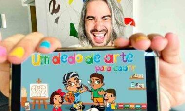Artista plástico Diego Moura lança app 'Um dedo de arte para colorir'. Foto: Divulgação