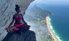 Aline Riscado impressiona fãs com foto radical no alto do Rio de Janeiro