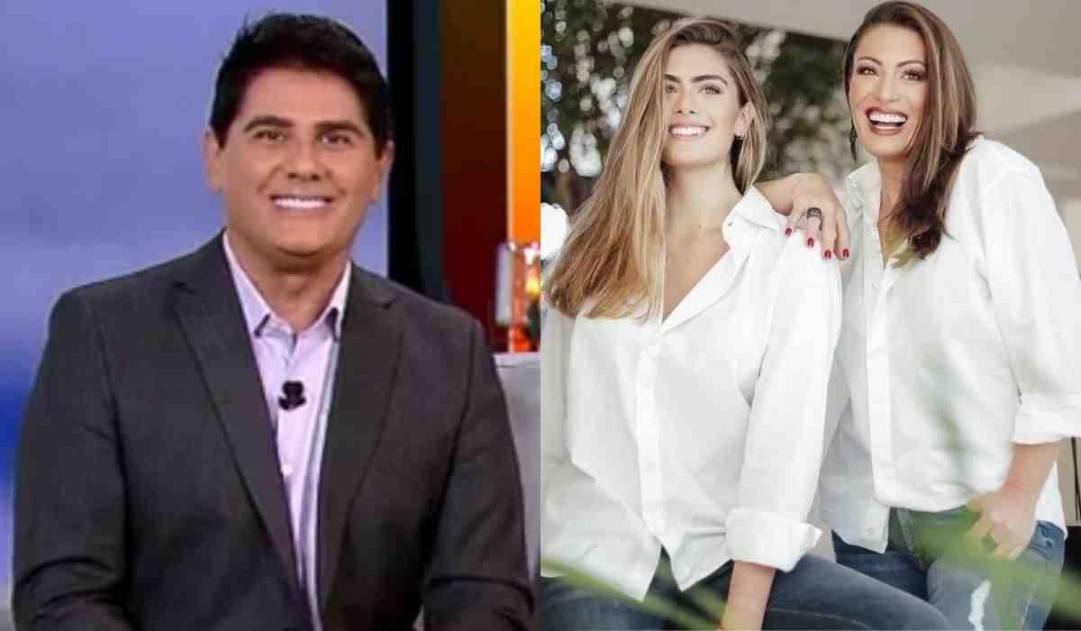 Cesar Filho se encanta com ensaio da esposa e filha: 'minha rainha e princesa'