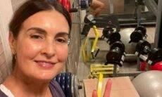 Fátima Bernardes posa sem make durante treino: 'suada, cansada e feliz'