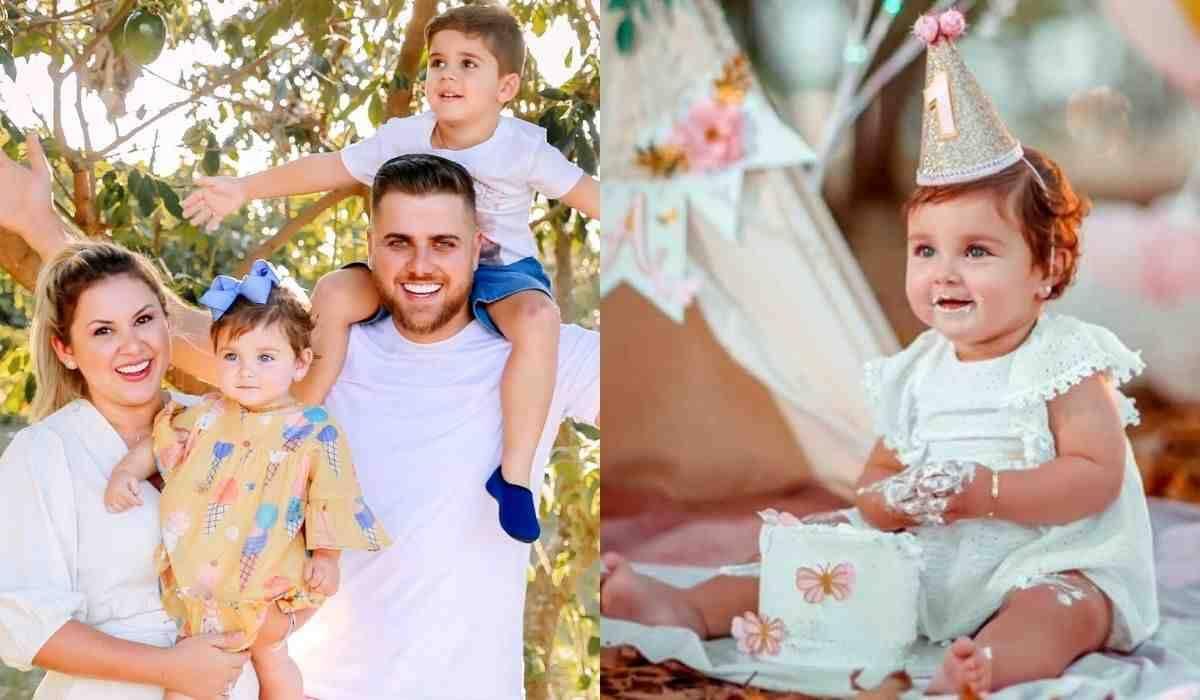 Zé Neto e esposa celebram aniversário de um ano da filha: 'uniu a família'