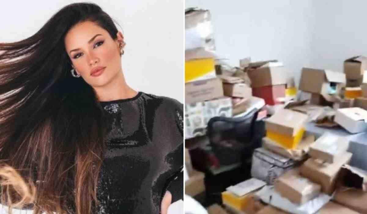 Juliette exibe quarto lotado de presentes dos fãs: 'haja amor'