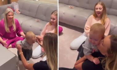 Ana Paula Siebert compartilha os primeiros passos da filha, Vicky
