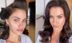Andressa Suita impressiona com antes e depois de maquiagem poderosa