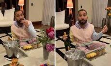 """Gil se hospeda em hotel de luxo e brinca: """"Vida de rei"""""""