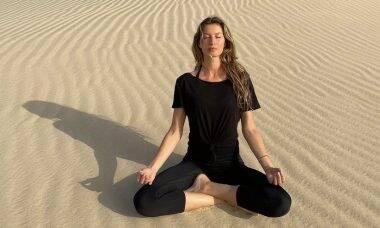 """Gisele Bündchen celebra o Dia Mundial da Meditação: """"Me ajudou"""""""