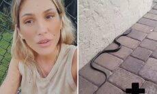 """Lívia Andrade conta que encontrou uma cobra em casa: """"Temos que tomar cuidado"""""""