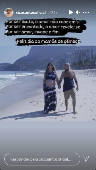 Grávida de gêmeas, Bruna Surfistinha ganha declaração do noivo (Foto: Reprodução/Instagram)