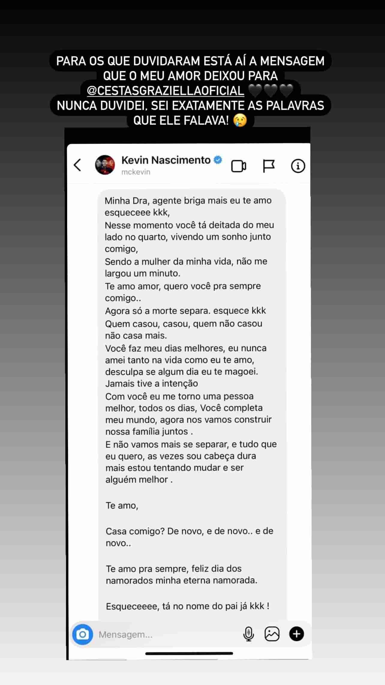 Viúva de MC Kevin rebate quem duvida de surpresa deixada pelo cantor (Foto: Reprodução/Instagram)