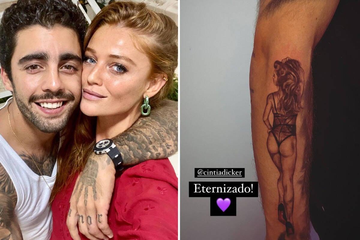 """Pedro Scooby faz tatuagem sensual de Cintia Dicker: """"Eternizado"""""""