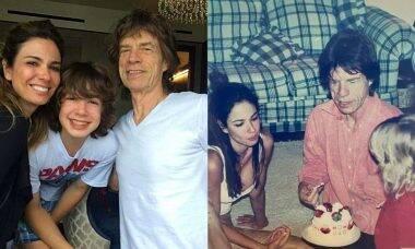 Luciana Gimenez posta cliques raros com Mick Jagger e o filho