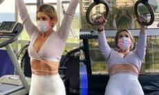 Flávia Alessandra impressiona ao exibir treino e boa forma: 'extasiada'